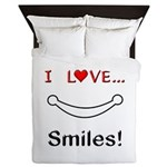 I Love Smiles Queen Duvet