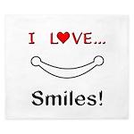I Love Smiles King Duvet