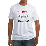 I Love Smiles Fitted T-Shirt