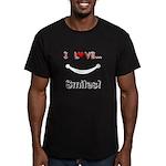 I Love Smiles Men's Fitted T-Shirt (dark)