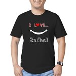 I Love Smiles Men's Fitted T-Shirt (dark)