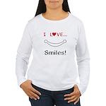 I Love Smiles Women's Long Sleeve T-Shirt