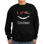 I Love Smiles Sweatshirt (dark)