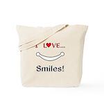 I Love Smiles Tote Bag