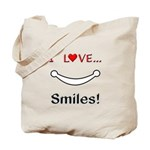 I Love Smiles Tote Bag