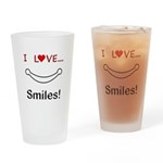 I Love Smiles Drinking Glass