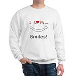 I Love Smiles Sweatshirt