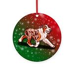 Red Merle Aussie Ornament (round)