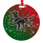 Flat Coated Retriever Round Ornament