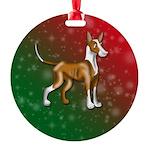 Ibizan Hound Round Ornament