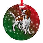Irish Red & White Setter Round Ornament