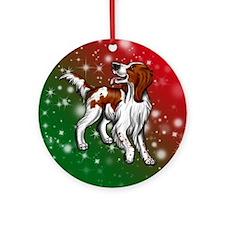 Irish Red & White Setter Ornament (round)