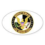 Minuteman Civil Defense - MCDC Oval Sticker