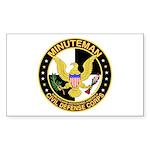 Minuteman Civil Defense - MCDC Sticker (Rectangula