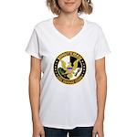Minuteman Civil Defense - MCDC Women's V-Neck T-Sh