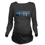 Montreal le soir Long Sleeve Maternity T-Shirt