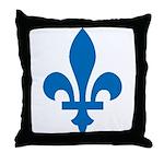FleurLysQc1 Throw Pillow
