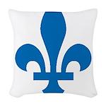 FleurLysQc1 Woven Throw Pillow