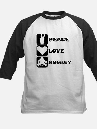 Peace Love Hockey Baseball Jersey