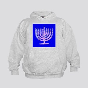 Blue Menorah Hanukkah 47 Designer Hoodie