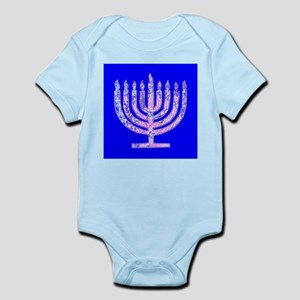 Blue Menorah Hanukkah 47 Designer Body Suit