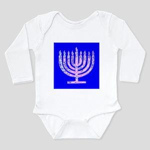 Blue Menorah Hanukkah 47 Designer Body Suit