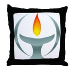 Metalic Chalice Throw Pillow