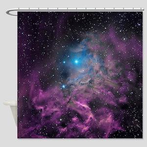 Flaming Star Nebula Shower Curtain