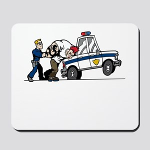 Police Arresting Criminal Cartoon Mousepad