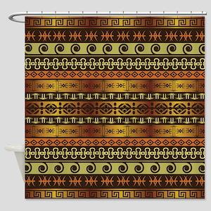 Shower Curtain: Elegant Gold African Pattern