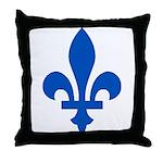 FleurLysQc1PMS293 Throw Pillow