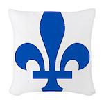 FleurLysQc1PMS293 Woven Throw Pillow