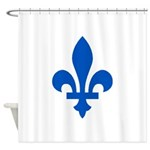 FleurLysQc1PMS293 Shower Curtain