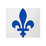FleurLysQc1PMS293 Throw Blanket