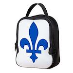 FleurLysQc1PMS293 Neoprene Lunch Bag