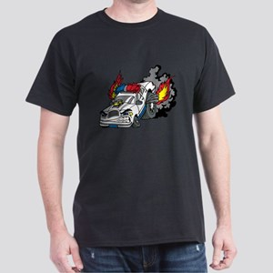 Cop Car Burning Rubber T-Shirt