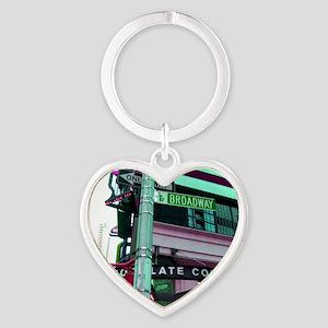 'Broadway Dreams' Heart Keychain
