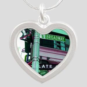 'Broadway Dreams' Silver Heart Necklace