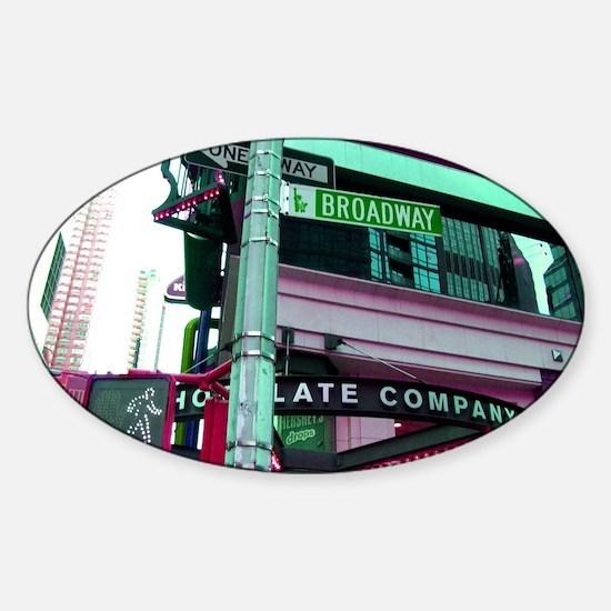 'Broadway Dreams' Sticker (Oval)