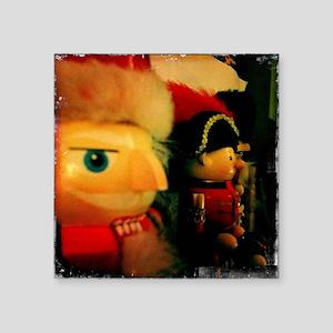 "Nutcracker Christmas Square Sticker 3"" x 3"""