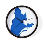 CarteQc2PMS293 Wall Clock