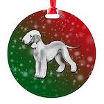 Blue Bedlington Terrier Round Ornament