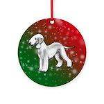 Blue Bedlington Terrier Ornament (round)