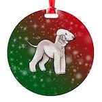 Liver Bedlington Terrier Round Ornament
