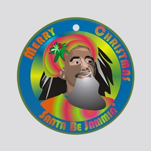 Santa Be Jammin Ornament (Round)