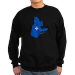 CarteQc1AvecLysPMS293 Sweatshirt