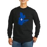 CarteQc1AvecLysPMS293 Long Sleeve T-Shirt