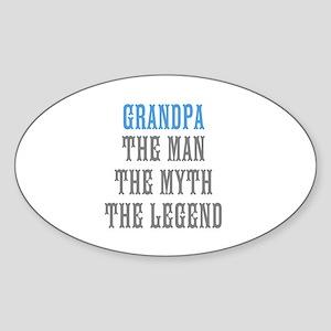 Grandpa The Man Myth Legend Sticker