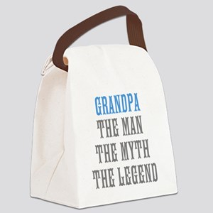 Grandpa The Man Myth Legend Canvas Lunch Bag
