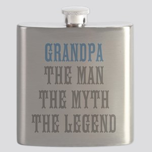 Grandpa The Man Myth Legend Flask